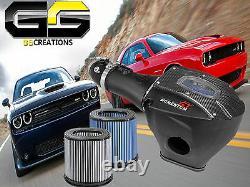 S'adapte Challenger Charger Srt Hellcat Afe Cold Air Intake System Avec Fibre De Carbone