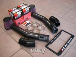 S'adapte Nissan Gtr R35 09-20 Carbon Fiber 70mm Air Intake Kit + K & N Filtres À Air